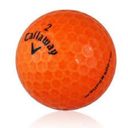 Callaway Supersoft Orange Used Golf Balls