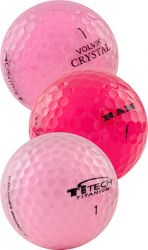 Pink Mix Used Golf Balls