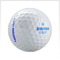 Bridgestone Precept Lady White Used Golf Ball