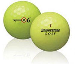 50 Bridgestone E6 Yellow Used Golf Balls