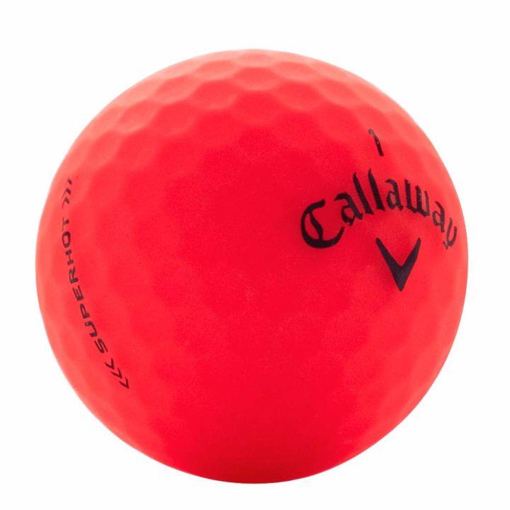 Callaway superhot matte red used golf ball