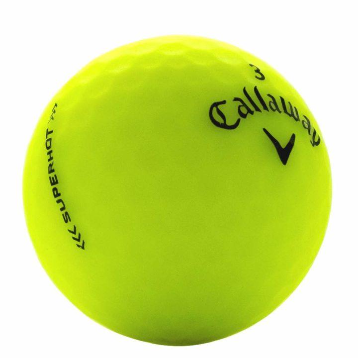 Callaway superhot matte yellow used golf ball