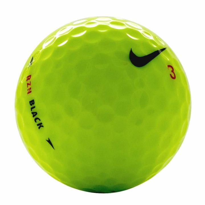 Nike one RZN black yellow used golf balls