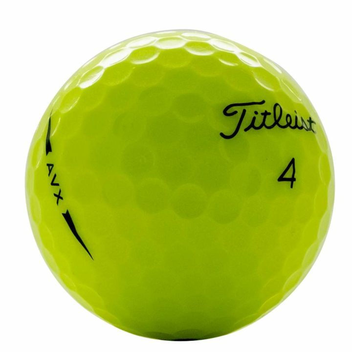 Titleist AVX yellow used golf balls