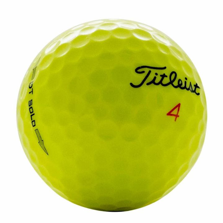 Titleist Yellow DT Solo Used Golf Balls   Wholesale Prices
