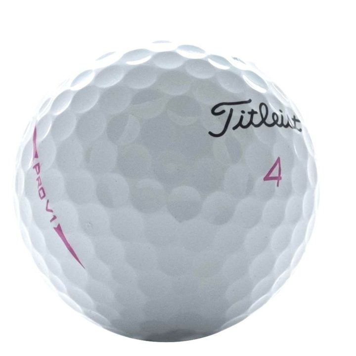 Limited Edition Titleist Pro V1 Pink Side Stamp 2012 Edition Used Golf Balls